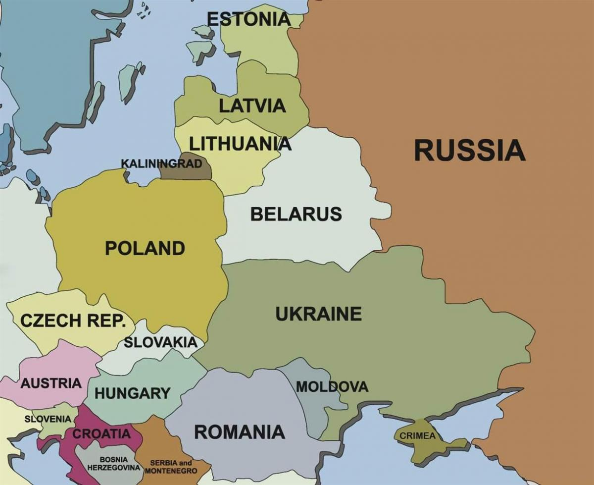 map of map Estonia surrounding countries