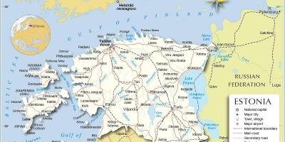 Map of Estonia country