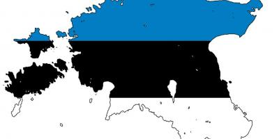 Map of Estonia flag