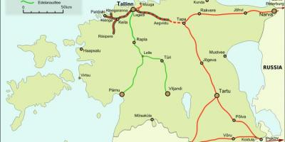 Map of Estonian railways
