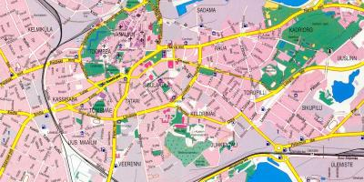 Map of tallinn Estonia